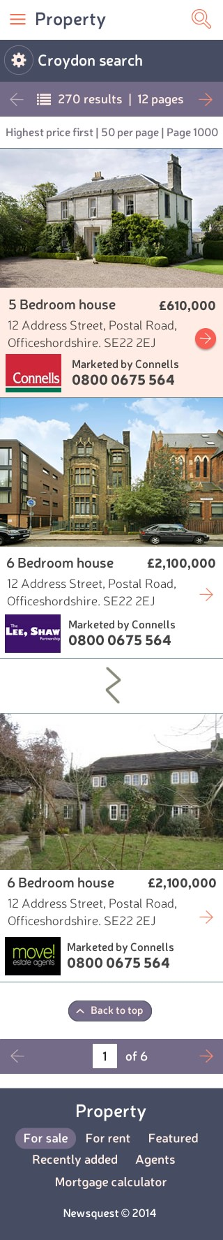 Property search page mobile breakpoint